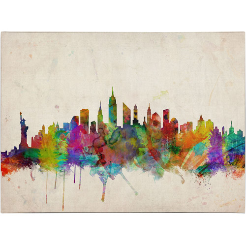 Trademark Art 'New York Skyline' Canvas Art by Michael Tompsett
