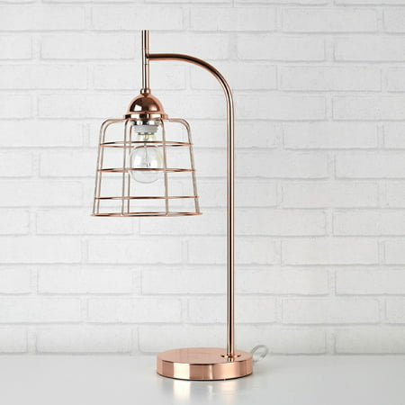 Urban Shop Rose Gold Caged Metallic Accent Table