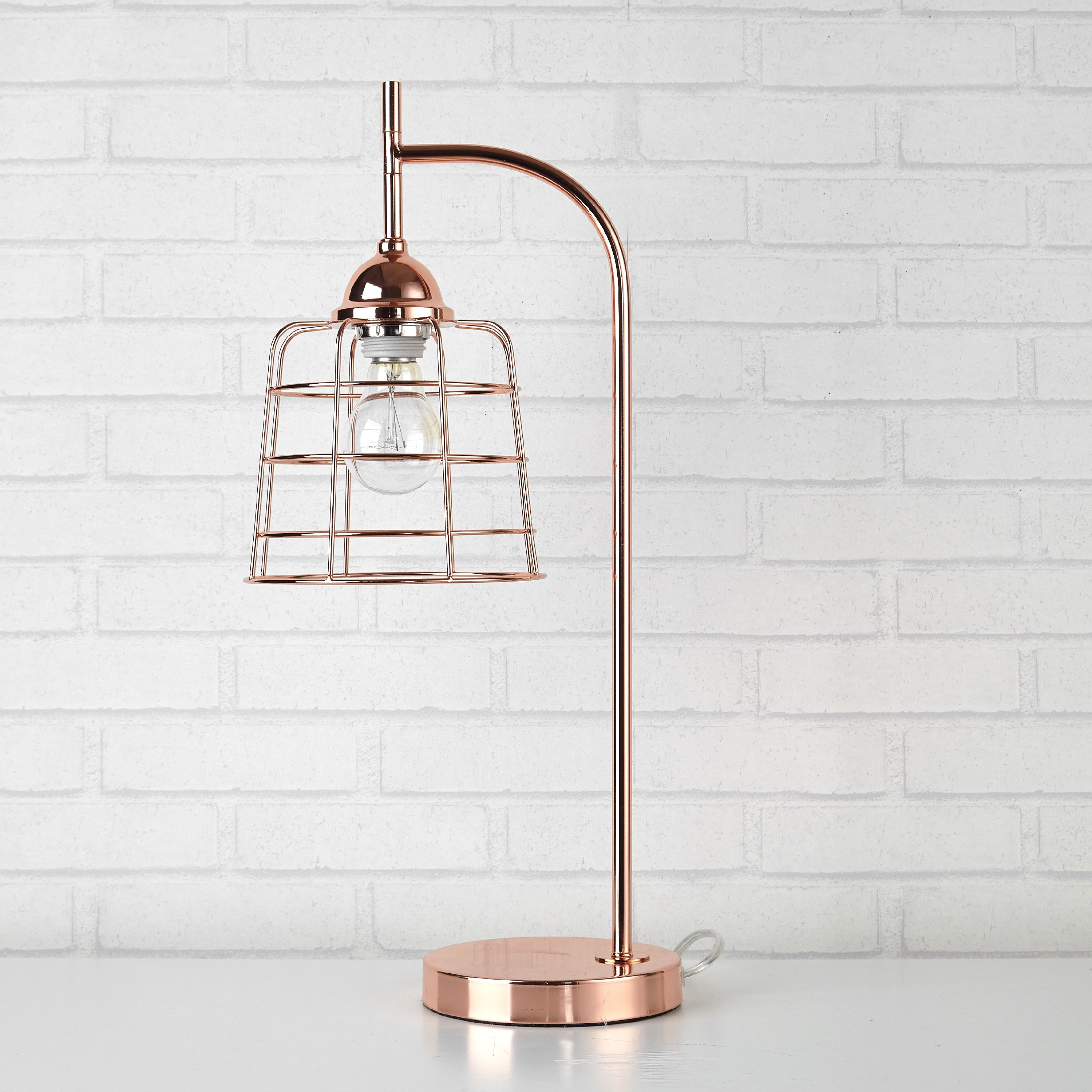 Better Homes & Gardens Rose Gold Caged Metallic Accent Lamp
