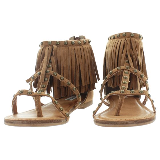 e2b19fed4 Not Rated - Not Rated Xenia Women s Fringe Gladiator Sandals Boho Studded  Design - Walmart.com