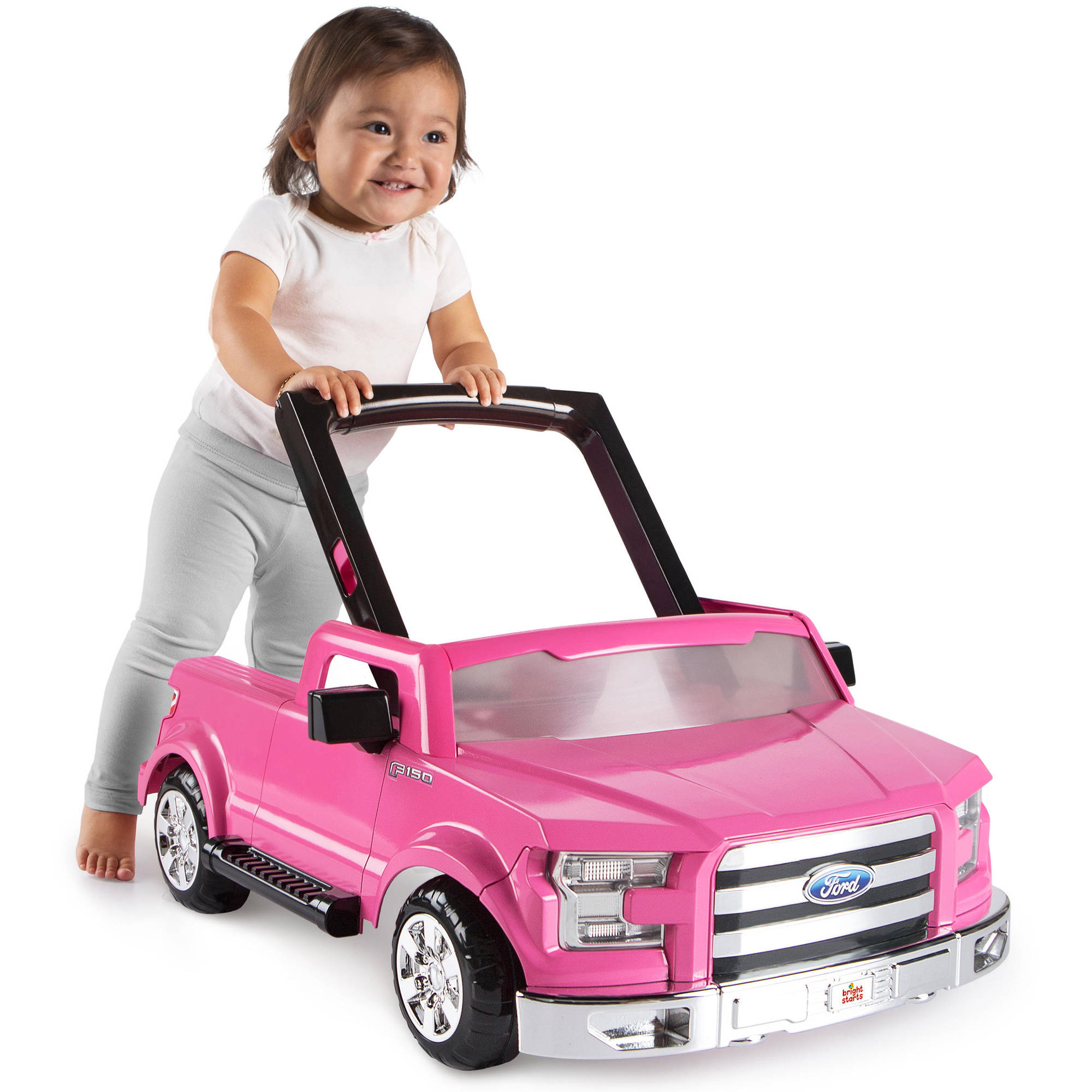 daf28c9c30fb Bright Starts 3 Ways to Play Walker Ford F-150 Pink Baby Holder Seat ...