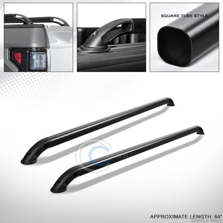 Velocity Concepts Matte Black Sqaure Bar Truck Bed Side Rails Rs 04-07 Silverado/Sierra 5.8 Ft Short