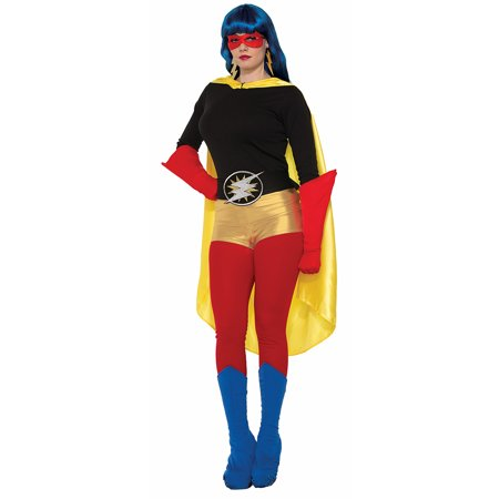 Superhero Blue Costume Boot Tops Adult - Costume Boot