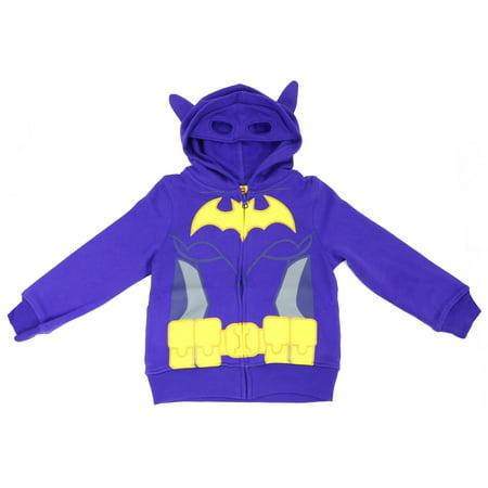 Lego Batgirl Girls' Caped Costume Hoodie Deep Lavender (Batgirl Hoodie)