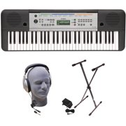Yamaha YPT-255 61-Key Keyboard Pack with Headphones, Power Supply and Stand