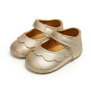 Seyurigaoka Infant Girl Princess Flat Shoes Soft Antiskid Sole Cribs Shoes