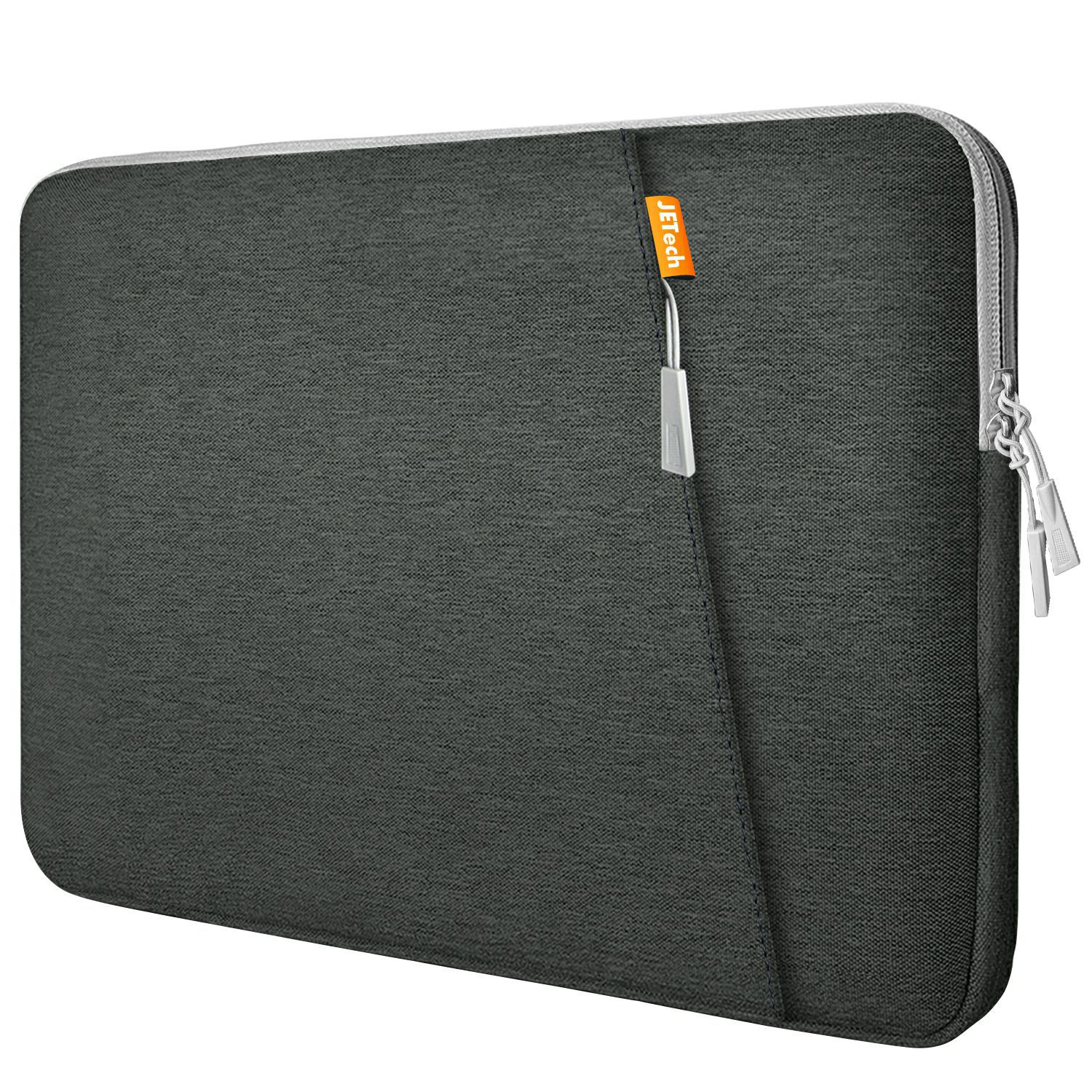 JETech 12-Inch Laptop Sleeve Waterproof Shock Resistant Protective Notebook Tablet iPad Tab Bag Case with Accessory Pockets