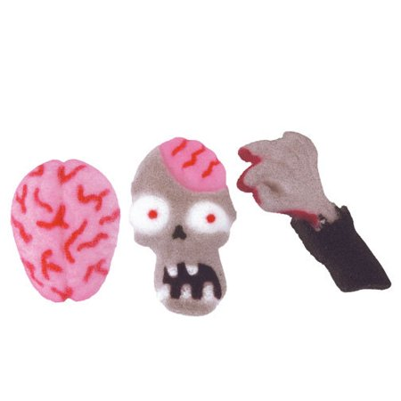 Zombie Attack Halloween Assortment Sugar Decorations Toppers Cupcake Cake Cookies Favors Party 12 - Halloween Cupcakes Brain