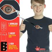 Kids Moving Eye Peeking Zipper T-Shirt