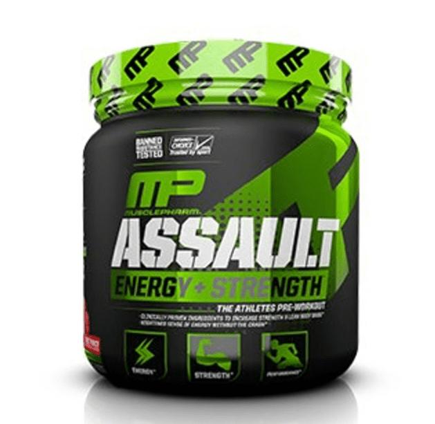 MusclePharm Assault Pre Workout Powder, Fruit Punch, 30 Servings
