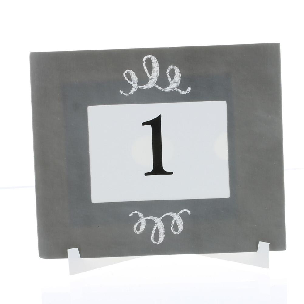 Set of 10 Paper Chalkboard Table Number Frames Fun Express #13731609