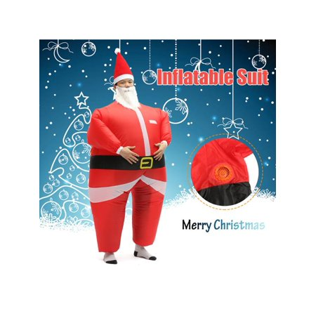 Blow Up Fat Suit (Christmas Inflatable Costume Adult Inflatable Santa Claus Blow Up Costume Fancy Party Dress Suit Outfit)