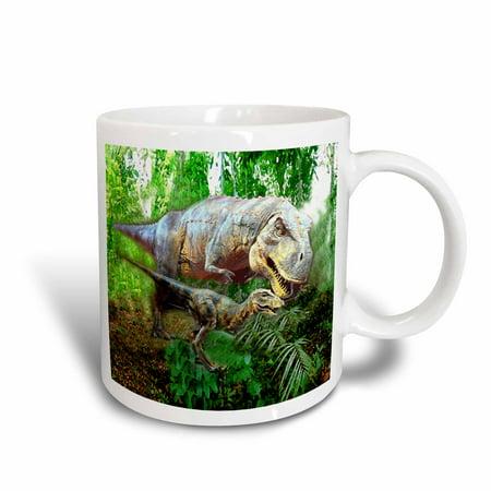 3dRose Dinosaurs, Ceramic Mug, 11-ounce - Dinosaur Mug
