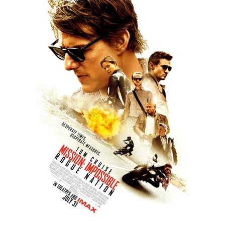 Mission Impossible Rogue Nation Movie Mini poster (Mission Impossible Poster)
