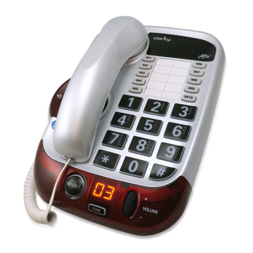 Clarity Alto Severe Hearing Loss Big Button Amplified Corded Phone