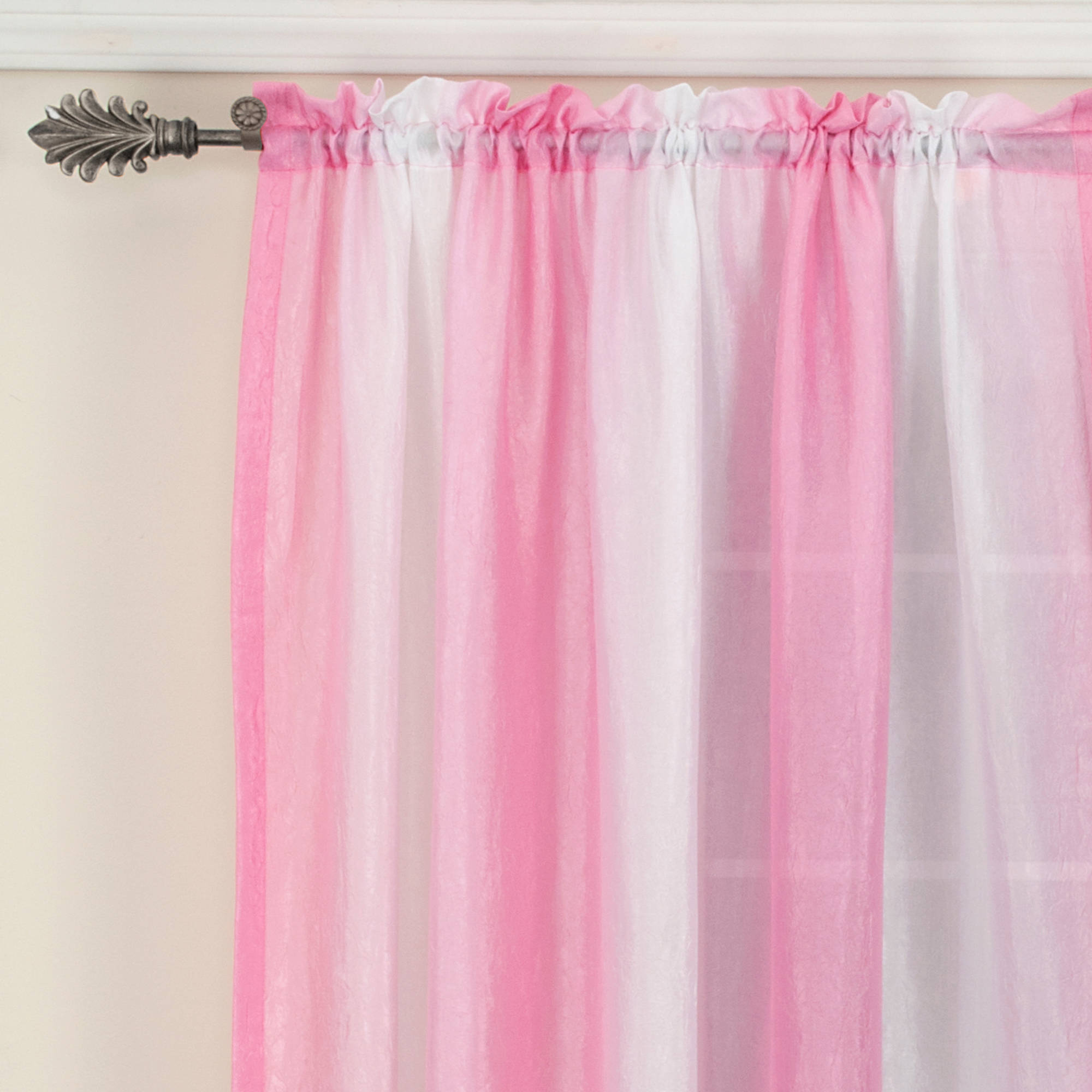 Your Zone Peace and Love Girls Bedroom Curtain Panel Set - Walmart.com for Ombre Curtains Pink  299kxo