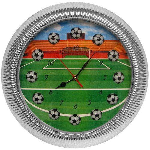 Trademark Global Quartz Movement Soccer Wall Clock