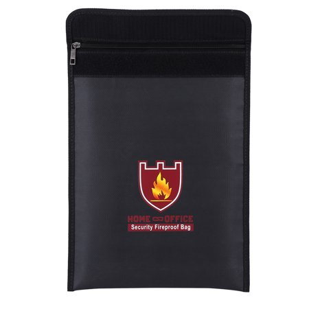 Ymiko Fire Resistant Pouch,Fireproof Bag,1pc Double Sided Fireproof Bag Fire Water Resistant Pouch for LiPo Battery Money Document
