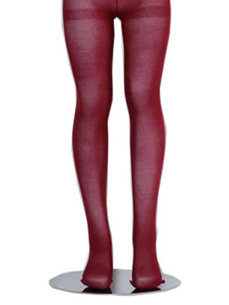 Burgundy Piccolo Lightweight Baby Toddler Little Girls Tights 0M-16