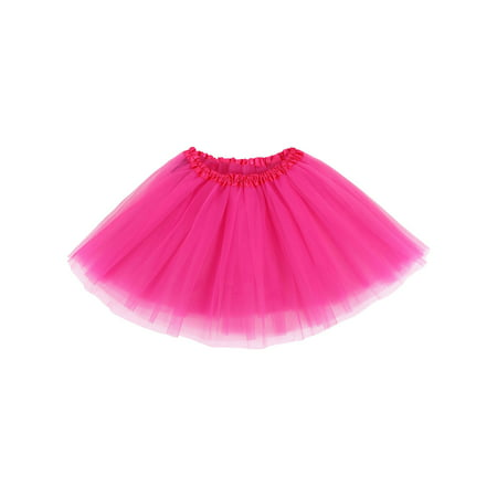 Womens Ballerina Tutu Adult Halloween Costume Accessory, Rose