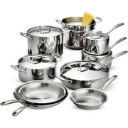 Tramontina 14-Piece Tri-Ply Clad Cookware Set, Stainless Steel
