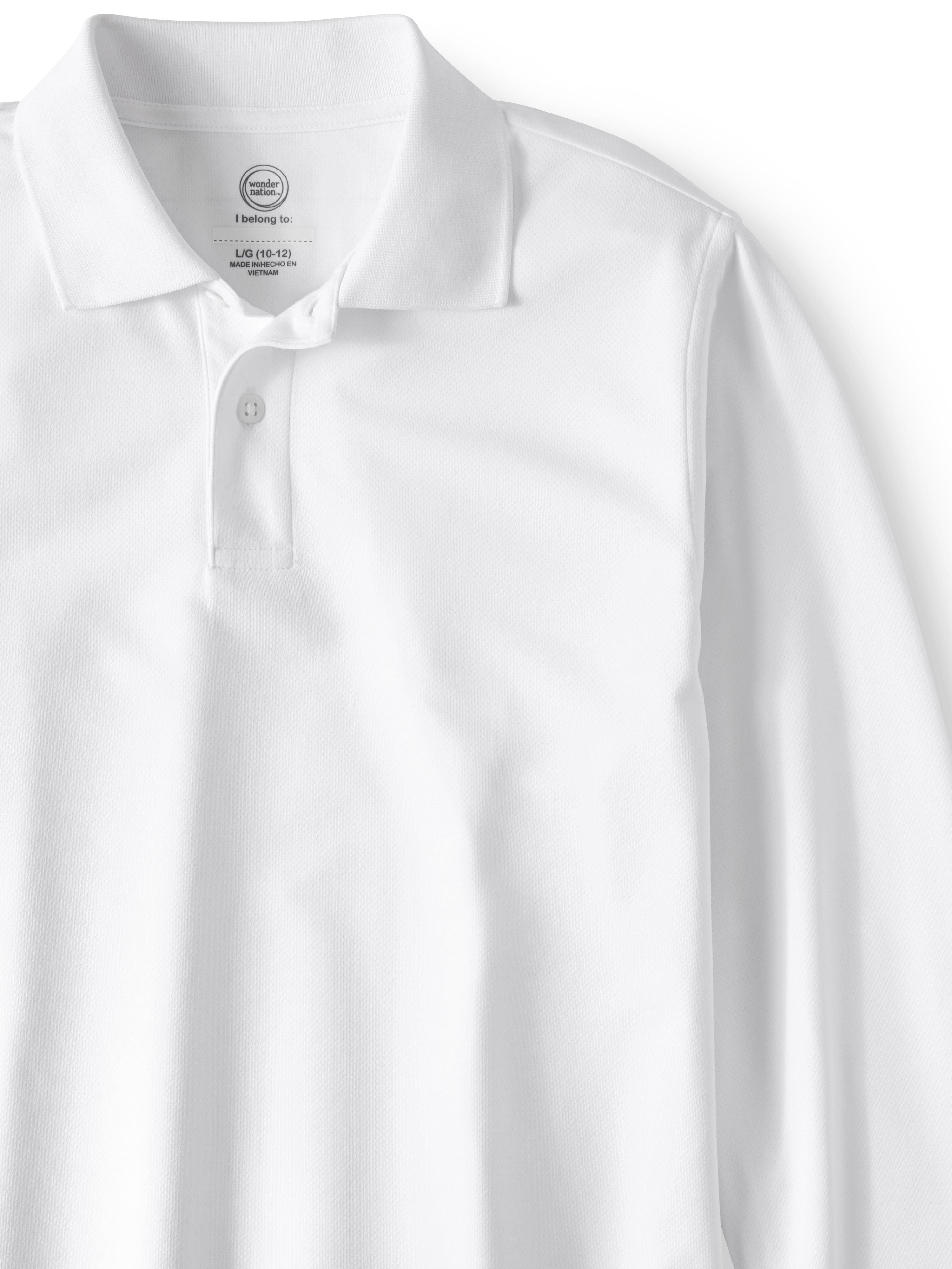 Performance Polo Shirt School Uniform No Fade Quick Dry Short Sleeve L2b Youth Athletic-Shirts