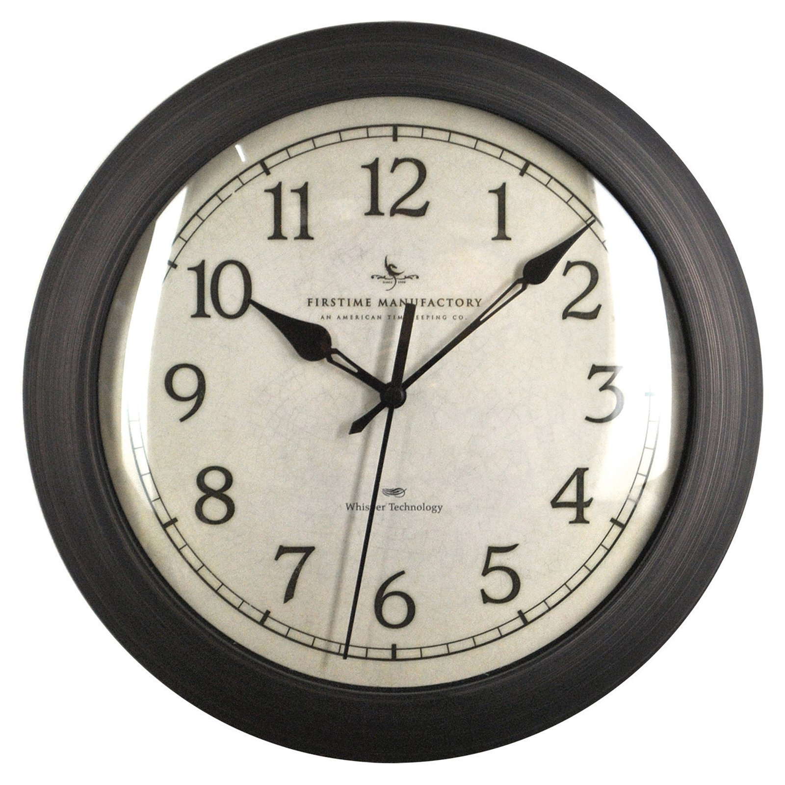 FirsTime Bronze Slim Wall Clock