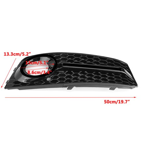 Pair Glossy Standard Style Fog Light Cover Grille Grill Fit 09-11 Audi A4 B8 - image 8 de 9