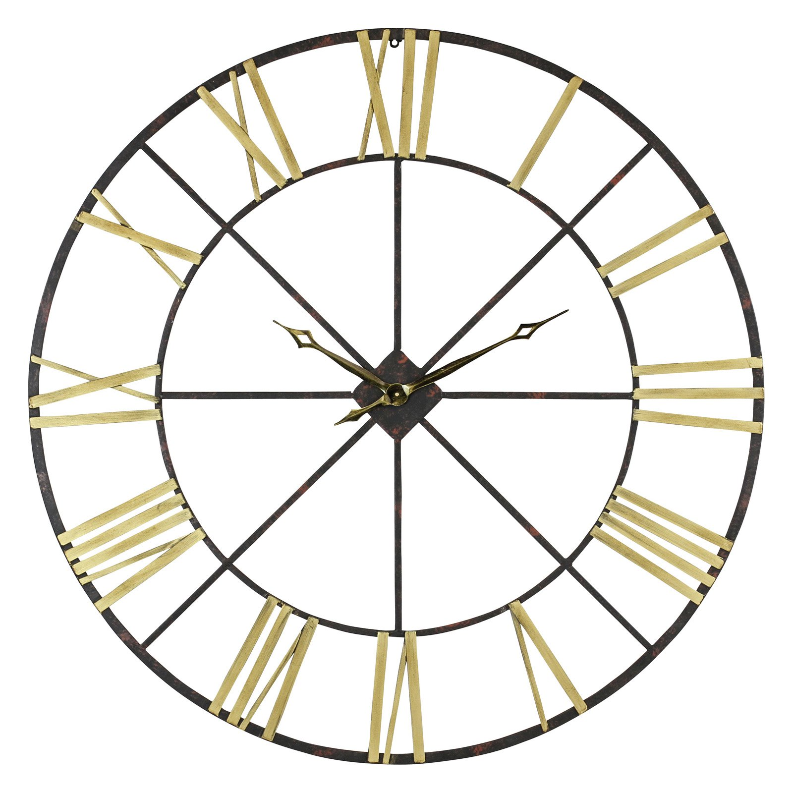 aspire baldwin oversized 48 in metal wall clock