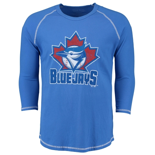 Toronto Blue Jays Majestic Threads Vintage Logo 3/4-Sleeve Raglan T-Shirt - Royal - XL