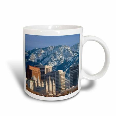 3Drose Wasatch Mountains  Salt Lake City Skyline  Utah Usa   Us45 Bjn0000   Brian Jannsen  Ceramic Mug  15 Ounce