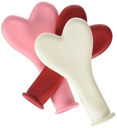 6 inch Heart Balloons - Sweetheart Assortment (100/bag)