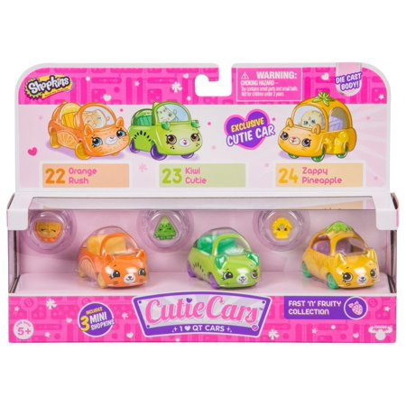 Cutie Car Spk Season 1 Fast N Fruity 3 Pack (Buy Shopkins)