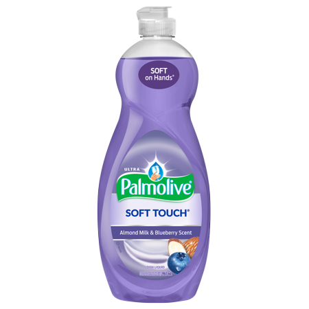 (2 Pack) Palmolive Ultra Soft Touch Liquid Dish Soap, Almond Milk and Blueberry - 32.5 fluid ounce