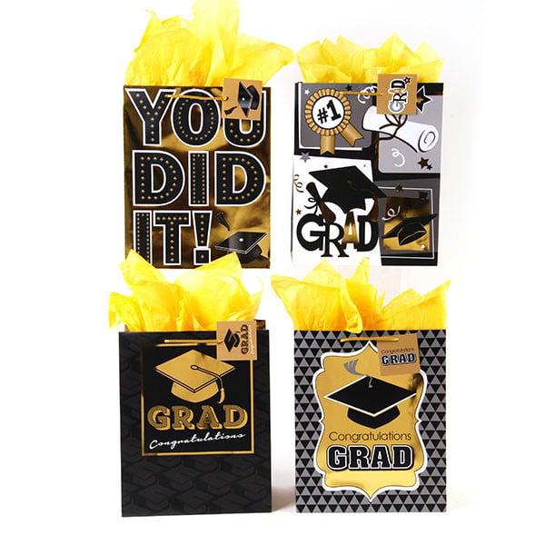 FLOMO Large Congrats Grad! Graduation Gift Bags - Assorted