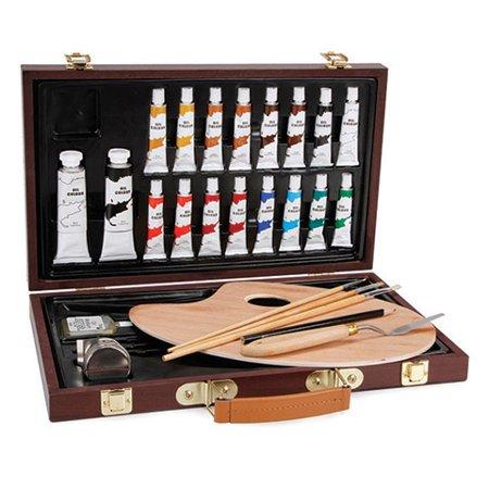 Studio 71 Wood Box Oil Painting Art Set - 27 pieces - Art Boxes