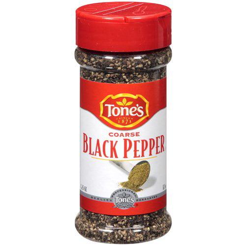 Tone's: Coarse Black Pepper, 4.25 Oz
