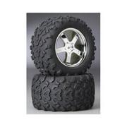 4973R Tires/Wheels T-Maxx 3.3 (2) Multi-Colored