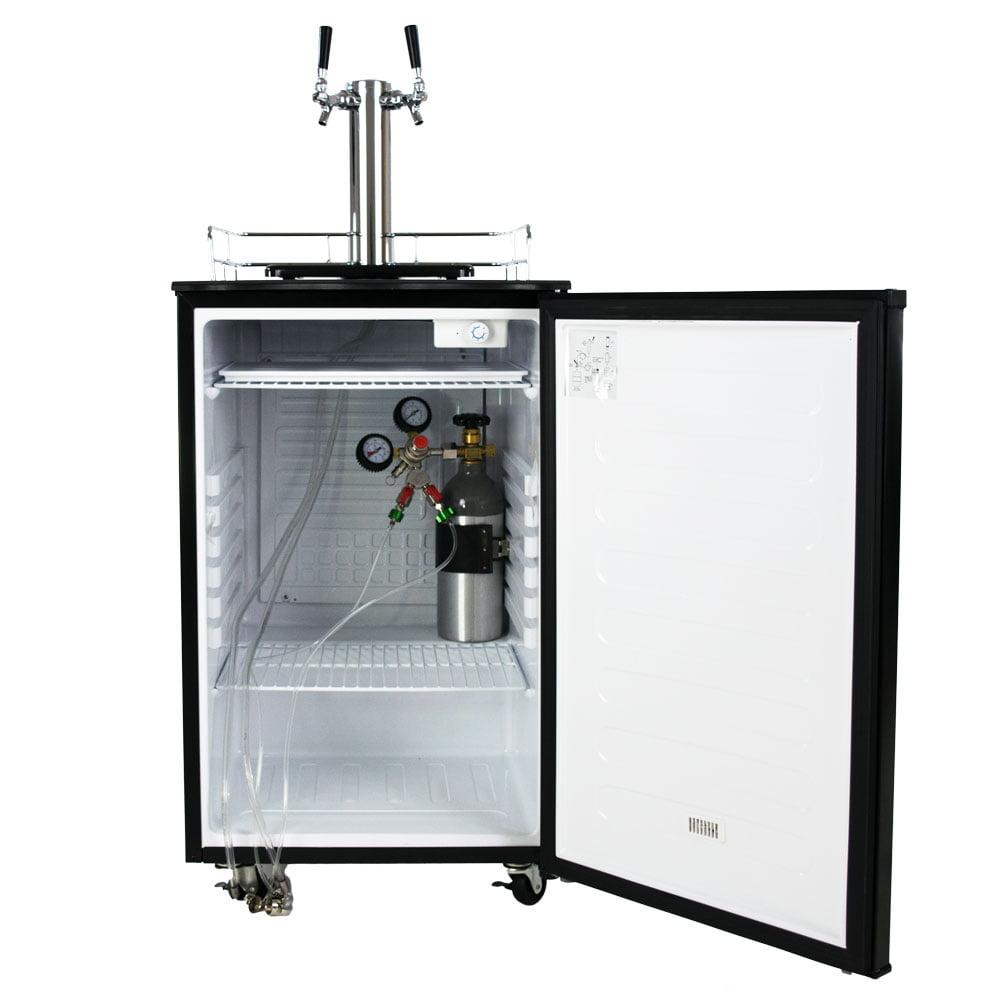 Beer tap systems for home - Keggermeister Km5600bk Dual Tap Pour Kegerator Keg Beer Dispenser Kegorator Walmart Com
