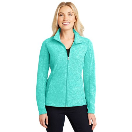 Womens Microfleece Full Zip Jacket - Port Authority Women's Heather Microfleece Full-Zip Jacket