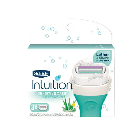 Schick Intuition Sensitive Care Women's Razor Blade Refills, 3 Ct Schick Intuition Plus Refills