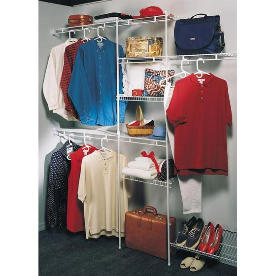 Shoe Organizers For Closets: Closetmaid Closet Organizer Kit With Shoe Shelf, 5' To 8