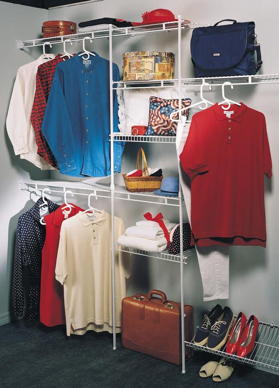 Perfect Closetmaid Closet Organizer Kit With Shoe Shelf, ...