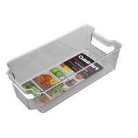 Cuisinart Freezer and Fridge Organizer Bins  Medium Plastic Organizer Bin, Measures 6 x 12.25 x 3.5 Inches  Ideal for Storing Fruit and Vegetables  Built-In Handle, Stackable, BPA Free