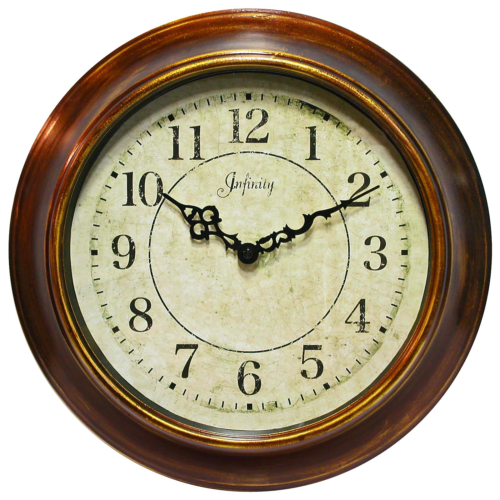 The Keeler 14 in. Wall Clock by Infinity Instruments