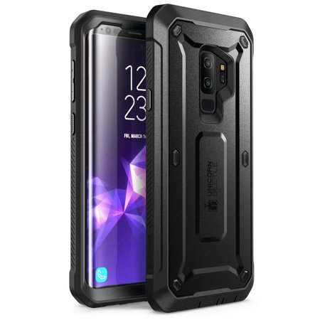 Supcase Galaxy S9 Plus Case Full Body Rugged Holster Case With Screen Protector For S9 Plus 2018 Release Black
