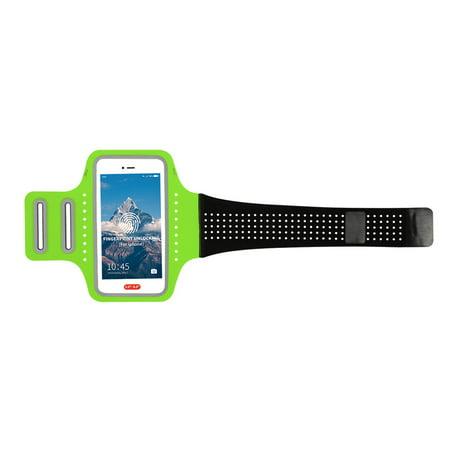 Elastic Sport Armband Full Screen Fingerprint Unlocking Phone Case Arm Band Ultrathin Breathable Running Fitness Adjustable Belt