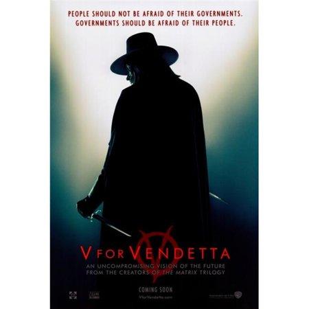 Pop Culture Graphics MOVAF4507 V for Vendetta Movie Poster Print, 27 x 40 - image 1 de 1