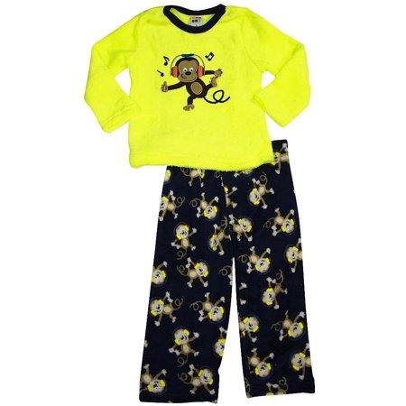 Healthtex - Baby Boys Long Sleeve Monster Pajama Set ACID YELLOW / 12 Months - Baby Monster Inc