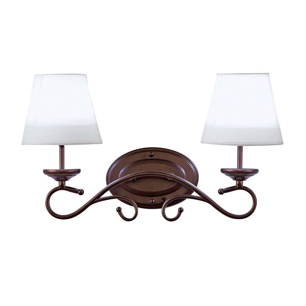 Rustic LED Double Wall Lampshade with Remote Control by Collections Etc